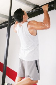 man doing pullups